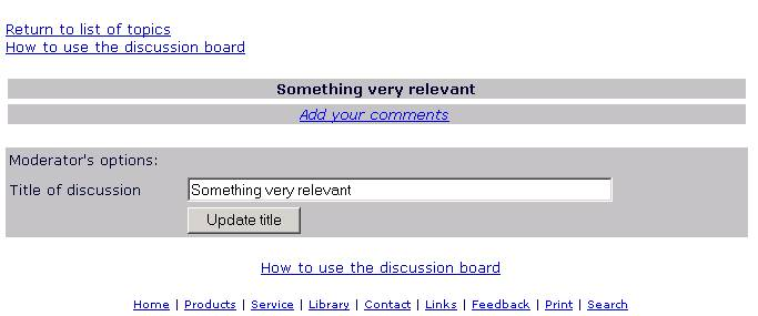 uts how to use discussion board