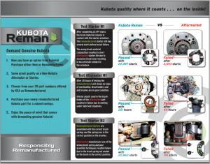 Kubota Reman Brochure Page 2