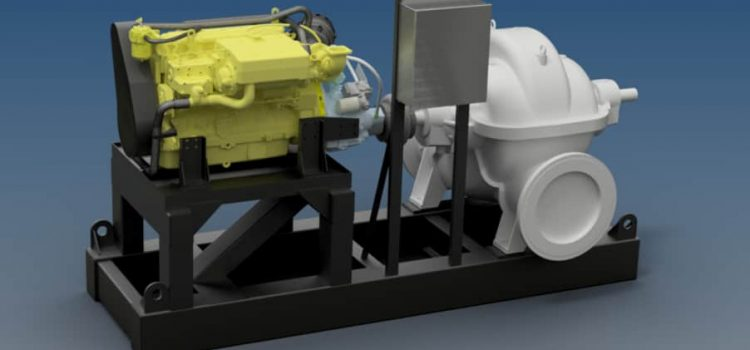 Barge Ballast Pumping Unit – Powered by John Deere Diesel Marine Engine