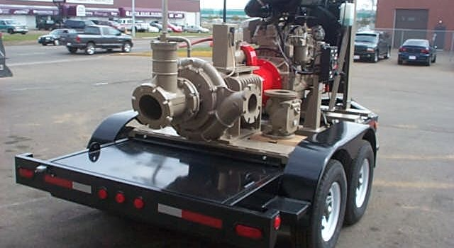 Pumping Unit on Trailer – John Deere Powered